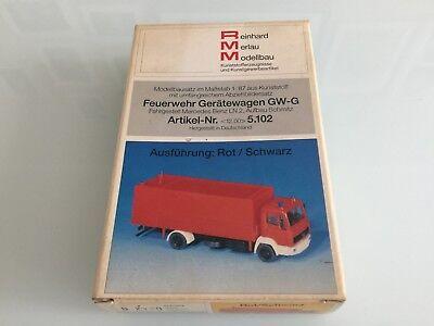 RMM Merlau 1:87 H0 Bausatz Feuerwehr Gerätewagen GW-G MB LN 2 Aufbau Schmitz gebraucht kaufen  Berlin