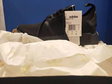 Adidas NMD R1 Primeknit Japan triple black men US9