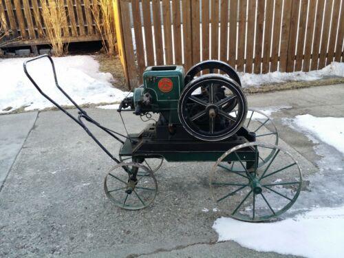 1923 Fuller & Johnson Model N 2.5 HP Hit-&-Miss engine on cart.