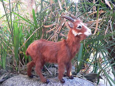 Miniature GOAT * OOAK Doll or Fairy Pal * Farmhouse Gift Idea *Farm Party decor