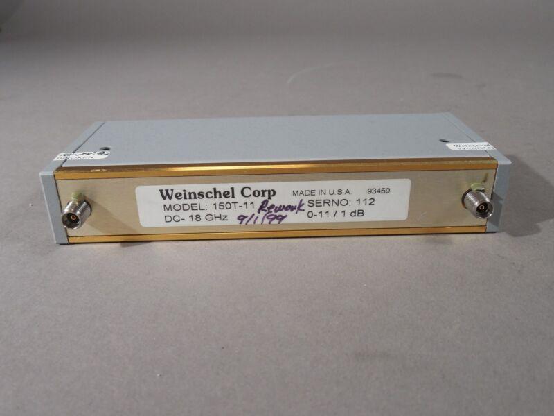 Weinschel 150T-11 RF Variable Attenuator 0-11dB