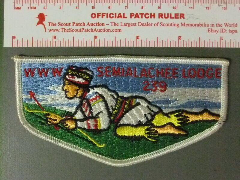 Boy Scout OA 239 Semialachee Lodge Flap 7397JJ