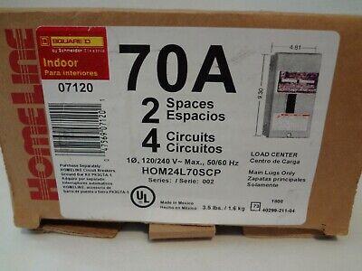 Homeline Square D Qo2-4l70s 70a Indoor Circuit Breaker Load Center New-open Box
