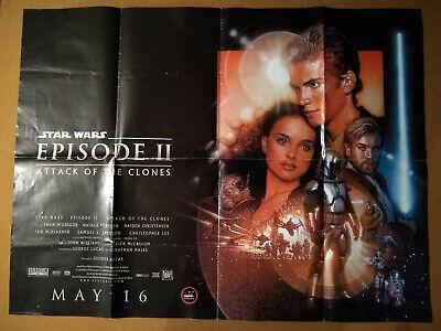 STAR WARS Episode 2 Attack of the Clones original UK Quad Film Poster 2002