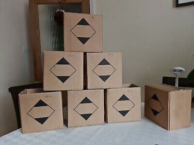 6 × Postal Cardboard Boxes Mailing Shipping Cartons Approx 21cm×21.5cm×15cm