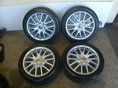 "SET OF 4 VW GOLF MK5 17"" GT TDI SPORT CLASSIX ALLOY WHEELS & 225/45R17 TYRES"