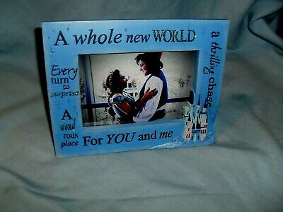 Disney Parks ALADDIN A Whole New World For You and Me Picture Photo Frame 4x6