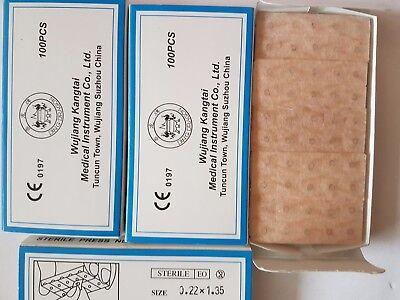 Speziell für Ohrakupunktur Drücknadeln 100St brauner Pflaster