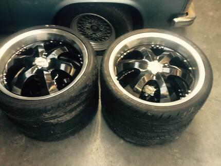 20 inch black & chrome advanti wheels Port Sorell Latrobe Area Preview