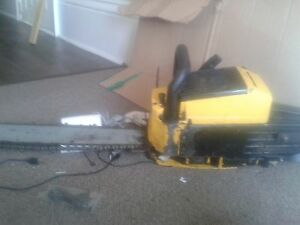 gas powered chainsaw.