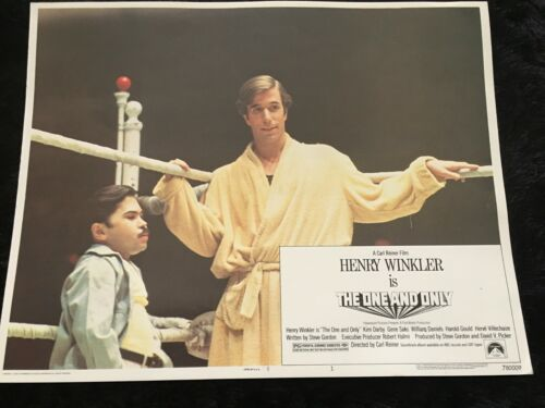 """Vintage """" THE ONE and ONLY """" Original 1978 Movie Lobby Card #1 -Henry Winkler NM"""