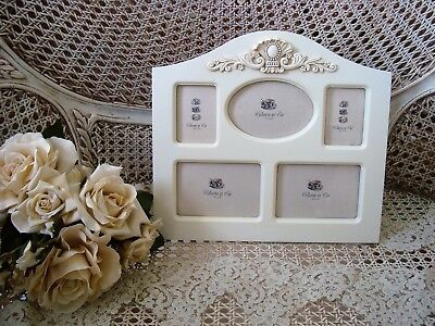 Medallion Picture Frame (SHABBY FRENCH MEDALLION PICTURE FRAME FOR 5 MINI PICTURES ****SO)