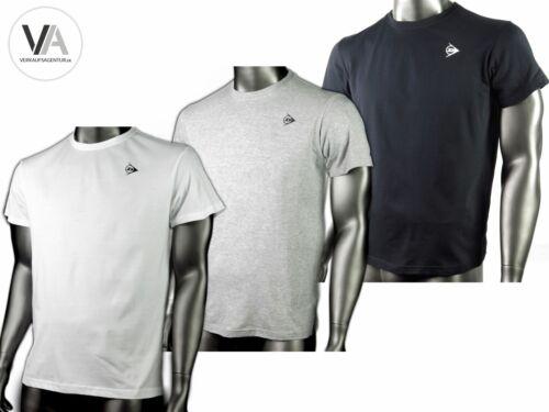 3er Set Dunlop Basic Herren T-Shirt Baumwolle weiß/grau/schwarz M-XXL