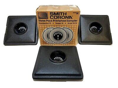 Smith Corona Printwheels Sampler 3 Pack Script Tempo Presidential H59360