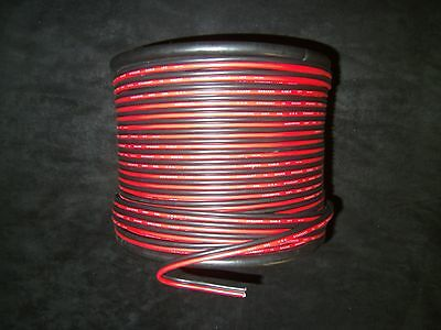 12 GAUGE RED BLACK SPEAKER WIRE PER 10 FT AWG CABLE POWER GROUND STRANDED COPPER