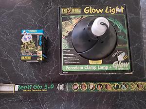 Exo Terra Glow Light (+ globe) & Repti-Glow Tube Stratton Swan Area Preview
