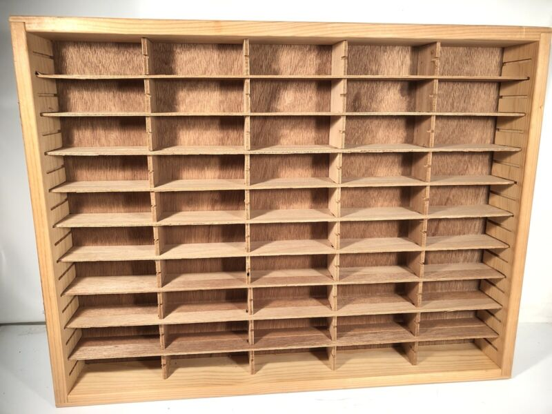 Napa Valley Box Company 100 Cassette Custom Size Cut Storage Case Craft Display