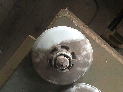 Vintage Industrial light shade. Grey metal circa 1950.