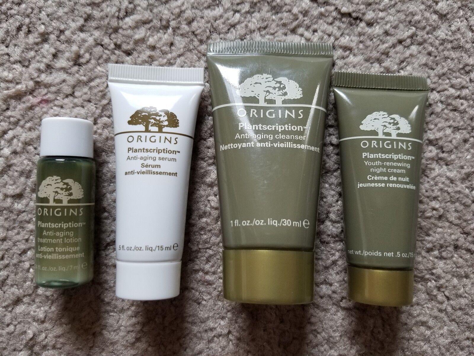 Origins Lot Plantscription Night Cream Cleanser Treatment Lotion