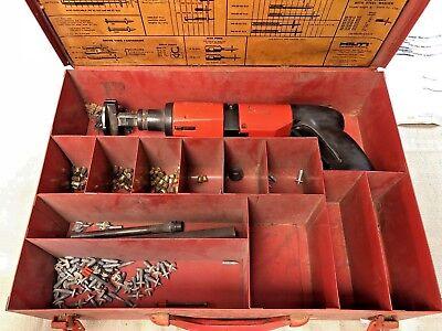 Hilti Powder Actuated Nail Gun Dx400b W Extras Steel Case - Free Ship