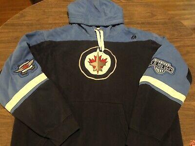 Winnipeg Jets NHL Hockey Large Navy & Blue Hoodie Sweatshirt Navy Blue Nhl Sweatshirt