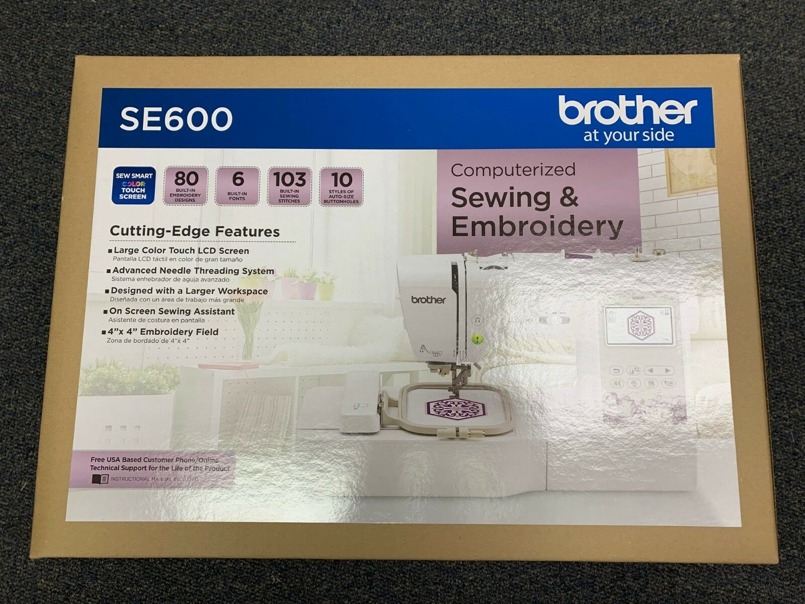 Brother Sewing Machine - SE600 - Computerized Sewing & Embro