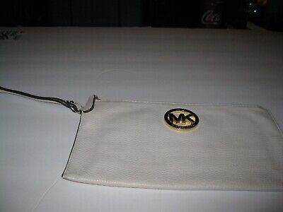 Michael Kors MK Cream Clutch with Handle