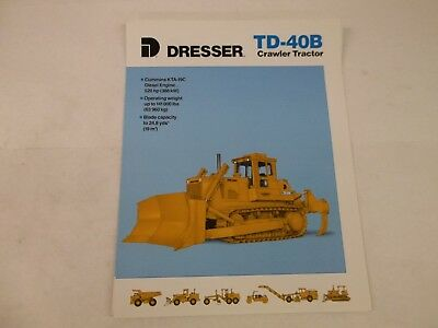 Dresser Td40b Crawler Tractor Brochure