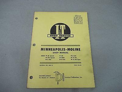 Minneapolis Moline It Shop Service Manual Ub Uts M5 M504 M602 M604 M670 5 Star