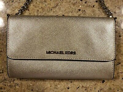 Michael Kors Wallet on a Chain Silver