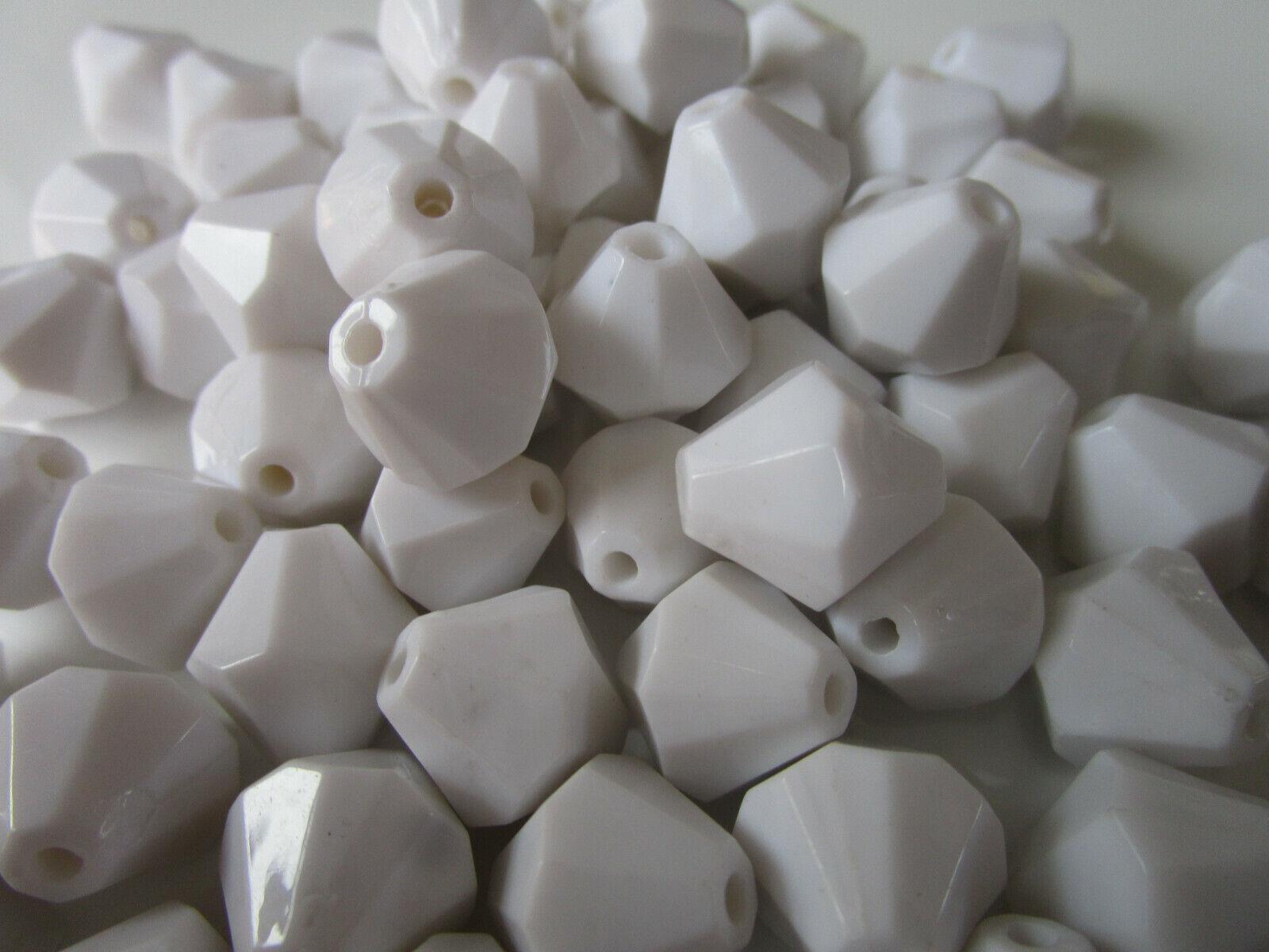 100 Perlen weiß 2cm rund Tischdeko Dekoperlen Wachsperlen PL 033  N