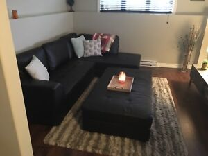 Couch and ottoman for sale
