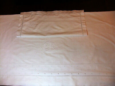 Bed linen 1 personne sheet 1m85 x 3m20 à retours + Taie matching
