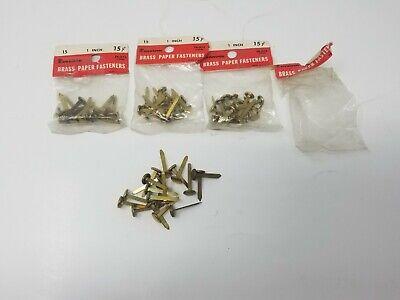 Vintage Dennison Brass Paper Fasteners 1 Lot Of 65