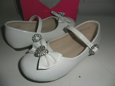 Girls Todller Mary Jane Flats Patent Bow Front w/ Rhinestones & STRAP US 9 NWT