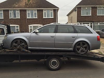 BREAKING AUDI RS6 AVANT C5 42 V8 BI TURBO 03 AV SILVER   1 x BOLT