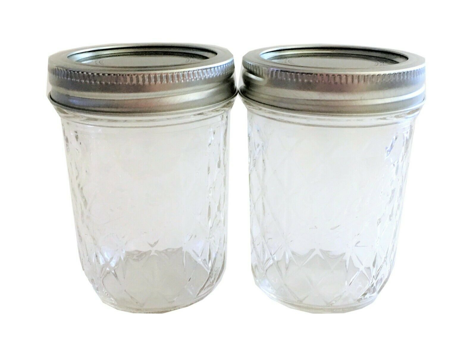 Ball Mason Jar Jelly Jars 8 oz. Quilted Crystal Style