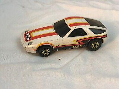 Hot Wheels Porsche P-928 White Orange Stripes THE HOT ONES Gold Birthday 1982