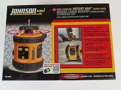 Johnson 40-6515 Self-leveling Rotary 800 Laser Level. New In Box