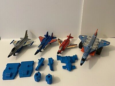 Transformers G2 Superion Silverbolt Air Raid Fireflight & Skydive Arialbots Lot