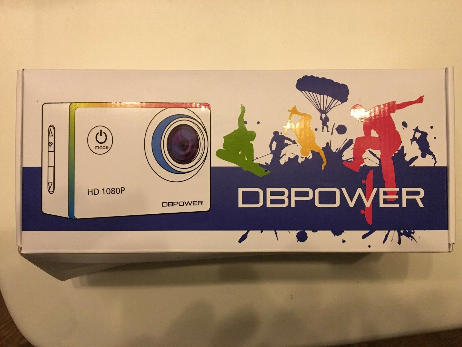 DBPOWER Action-Kamera Wasserdicht 12 MP HD 1080P EX4000