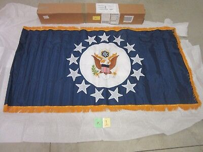 US AMBASSADOR FLAG CHIEF OF MISSION 3' X 6' NYLON EMBROIDERED 13 STAR RARE NEW