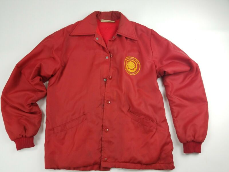 VINTAGE Shell Oil Wood River Refinery Medium Jacket 60s 70s RARE