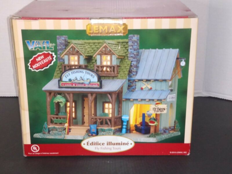 """LEMAX - Vail Village """"FLY FISHING TOURS""""  Lighted Building 2010"""