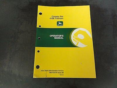 John Deere Canopy For 4100 Tractors Operators Manual  Omty24778