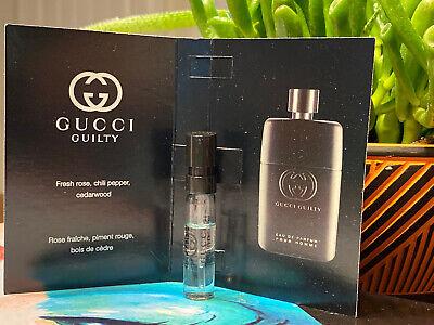 Gucci Guilty Pour Homme Eau de Parfum EDP 1.5 mL Sample Card Vial