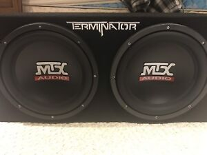NEW MTX subwoofers