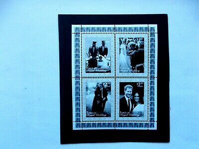 TOLELAU: 2018  Royal Wedding Sheet of 4 stamps U/M Sg