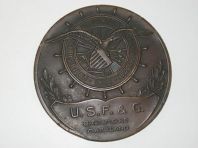 1946 United States Fidelity   Guaranty Ins Co  Baltimore Md  Brass Paper Weight