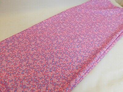 Vintage Kmart Low Stretch Poly Fabric Purple Pink Small Flowers 1 yd 60W - Kmart Costumes